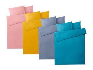 MERADISO® Perkal Bettwäsche, mit Reißverschluss, aus reiner Baumwolle, 155x 220 cm