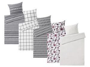 MERADISO® Flanell Bettwäsche, 135 x 200 cm, mit Reißverschluss, aus Baumwolle
