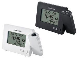 SILVERCREST® Funkprojektionswecker, Projektion der Uhrzeit oder Temperatur, LC-Display