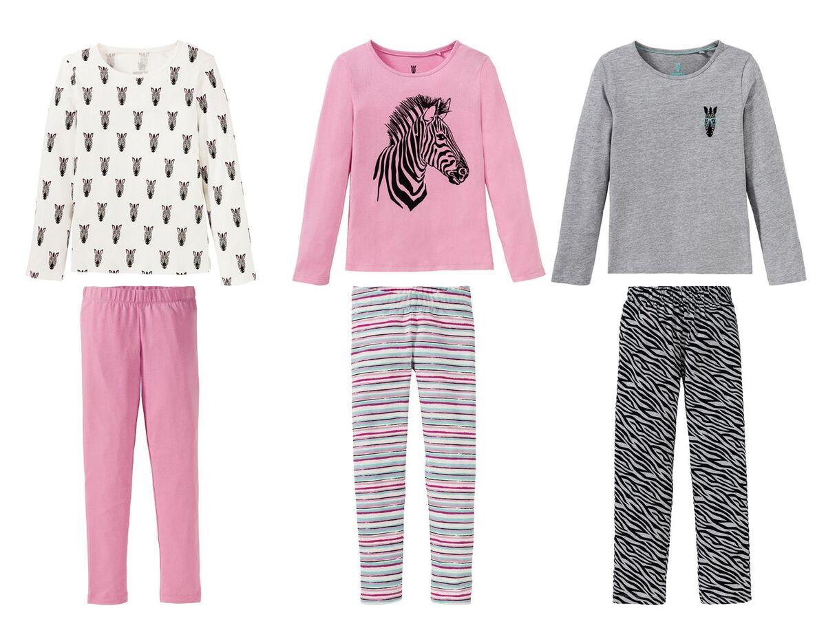 Bild 1 von PEPPERTS®  Pyjama Mädchen, mit Baumwolle, aus Piqué-Qualität