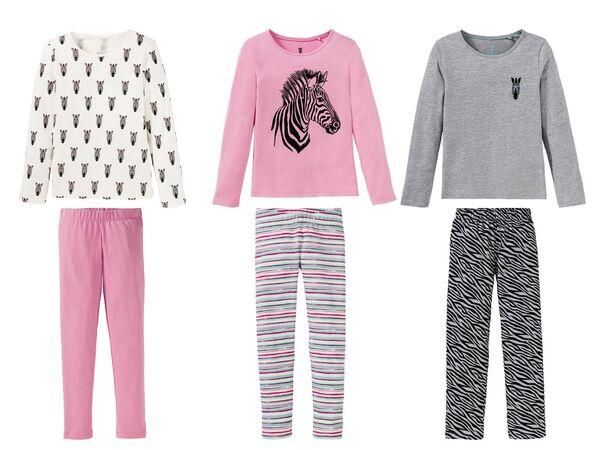 PEPPERTS®  Pyjama Mädchen, mit Baumwolle, aus Piqué-Qualität