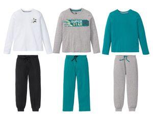 PEPPERTS®  Pyjama Jungen, mit Gummizugbund und Bindeband, mit Baumwolle