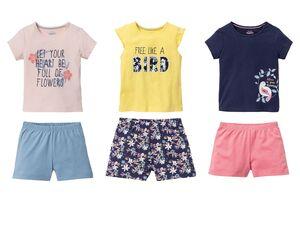LUPILU® Kleinkinder Shorty Mädchen, mit Print, aus reiner Baumwolle