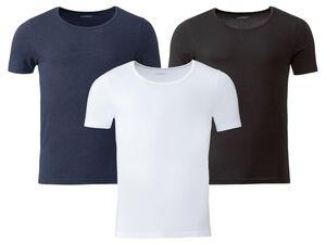 LIVERGY® Unterhemd Herren, mit Baumwolle und Elasthan