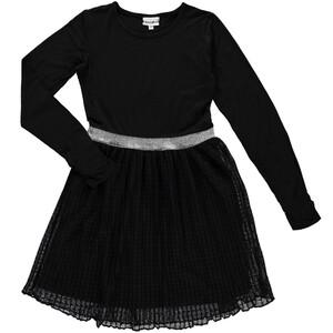 Mädchen Langarmkleid mit Plissee