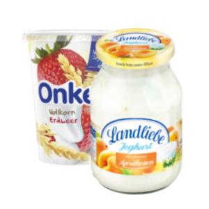 Landliebe Joghurt mit Früchten oder Onken Fruchtjoghurt