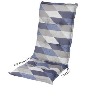 Hochlehner-Auflage Calabria (blau-grau-beige)