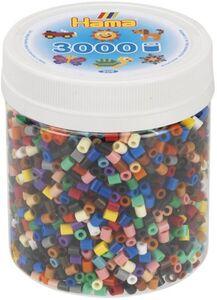 Hama Bügelperlen - 3000 Perlen - Vollton-Mix