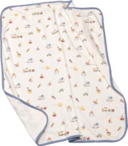 ALANA Baby Decke, in Bio-Baumwolle, 90x80 cm, weiß, bunt, für Mädchen und Jungen
