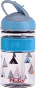 Nuby Freestyle Tritan Trinkhalmbecher blau 360ml