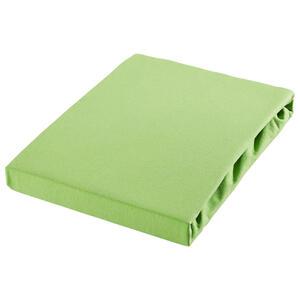 SPANNBETTTUCH Jersey Hellgrün bügelleicht, für Wasserbetten geeignet