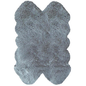 KUNSTFELL 110/160 cm Silberfarben