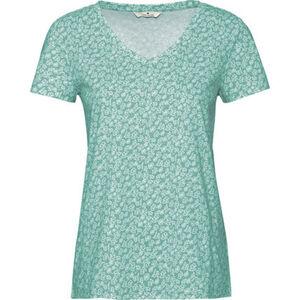 Tom Tailor T-Shirt, florales Muster, V-Ausschnitt