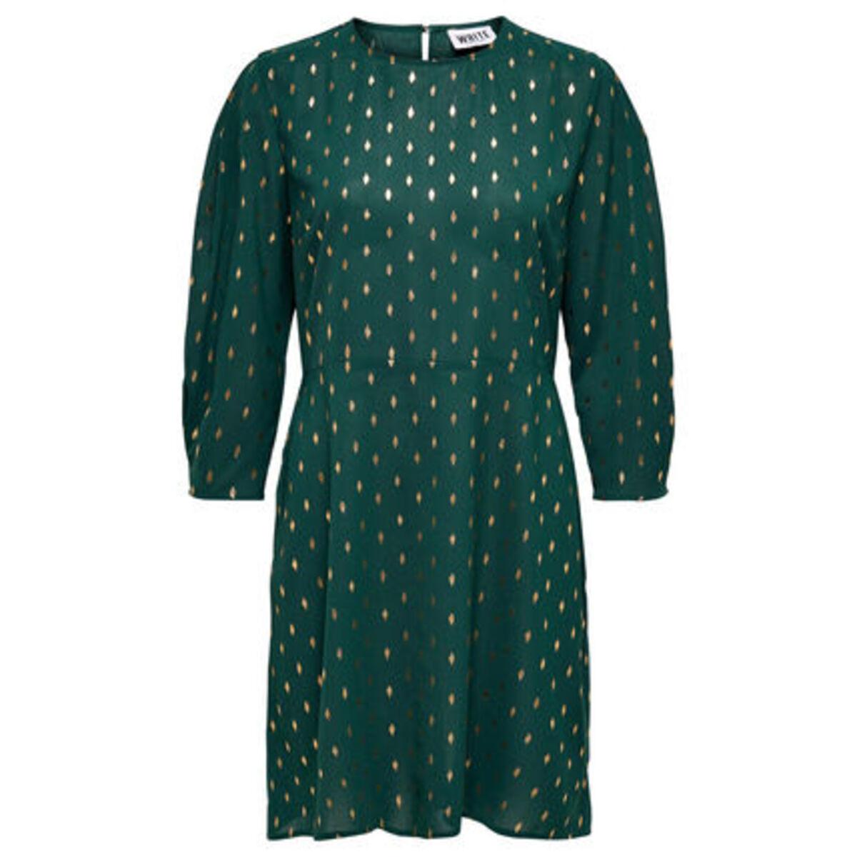 Bild 1 von Only Kleid, Allover-Print, dezente Ballonärmel, tailliert, für Damen