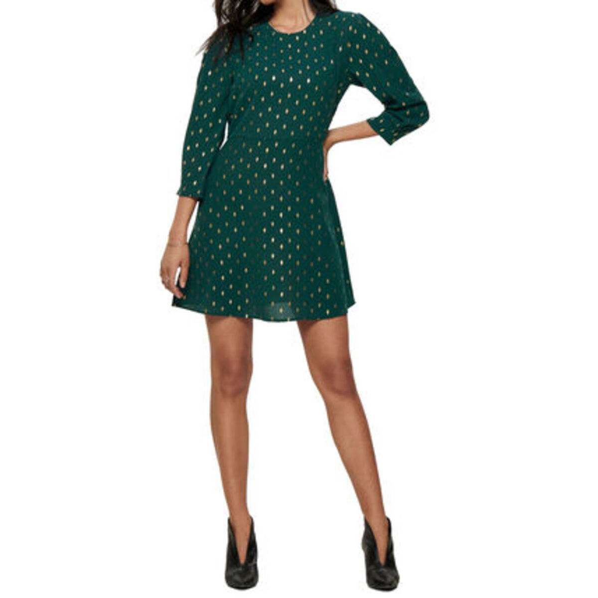 Bild 3 von Only Kleid, Allover-Print, dezente Ballonärmel, tailliert, für Damen