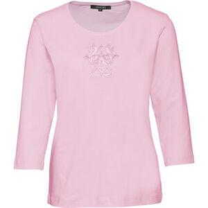 Adagio Damen Shirt mit Stickerei und Strass