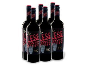6 x 0,75-l-Flasche Lauffener Weingärtner Lesestoff Rotwein Cuvée QbA halbtrocken, Rotwein