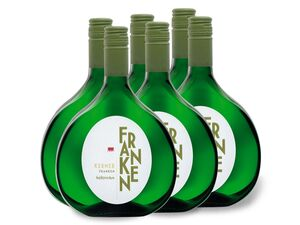 6 x 0,75-l-Flasche Kerner Franken QbA halbtrocken, Weißwein