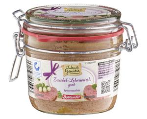 Traditionelle Genüsse Leberwurst im Bügelglas