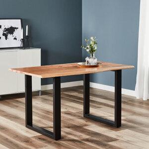 Holztisch mit echter Baumkante, ca. 140cm1