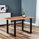 Bild 1 von Holztisch mit echter Baumkante, ca. 140cm1