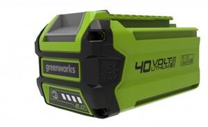 Greenworks 40 V Li-Ion Akku 2 Ah, LED-Ladestandsanzeige, Gartengeräte und Werkzeuge