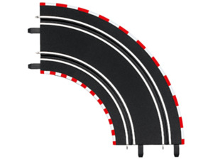 CARRERA (TOYS) Kurve 1/90° (2) Carrera Zubehör, Mehrfarbig