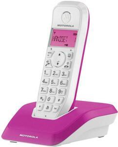 Motorola STARTAC S1201 DECT, GAP Schnurloses Telefon analog Freisprechen Pink, Weiß