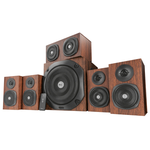 Trust Vigor 5.1 Surround Speaker System for PC - Braun [5.1-Surround-Lautsprecherset aus Holz]