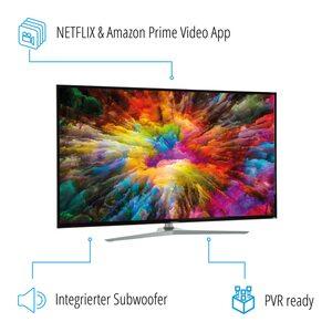 MEDION LIFE® X14343 Smart-TV, 108 cm (43'') Ultra HD Display, HDR, Dolby Vision™, PVR ready, Netflix, Amazon Prime Video, Bluetooth®, DTS HD, HD Triple Tuner, CI+ (B-Ware)