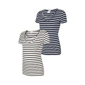 MAMALICIOUS®     2er-Pack Umstands- und Still-T-Shirt Lea Organic Cotton