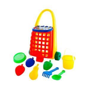solini     9-tlg. Sandspielzeug-Set im Trolley