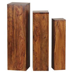 BLUMENTISCHSET Holz Sheesham massiv