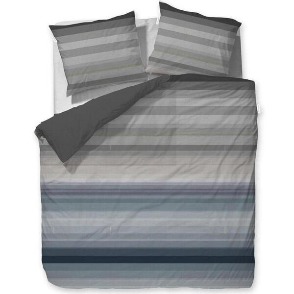 BETTWÄSCHE Makosatin Grau 200/200 cm
