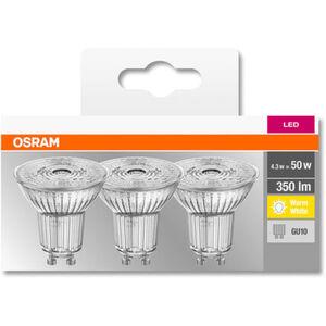 Osram LED-Reflektorlampe, 350 Lumen, 4.3W, GU10, 3er Pack, A++