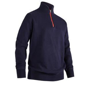 Golf Pullover winddicht Kinder marineblau