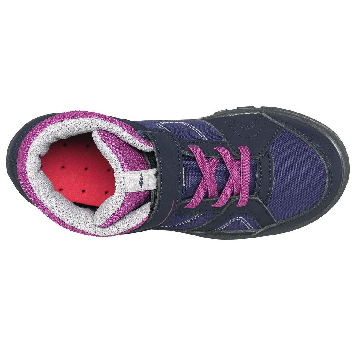 Bild 4 von Wanderschuhe MH100 halbhoch Kinder Mädchen Gr. 24-34 violett