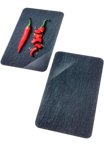 Herdabdeckplatten mit Peperoni-Motiv (2er Pack)
