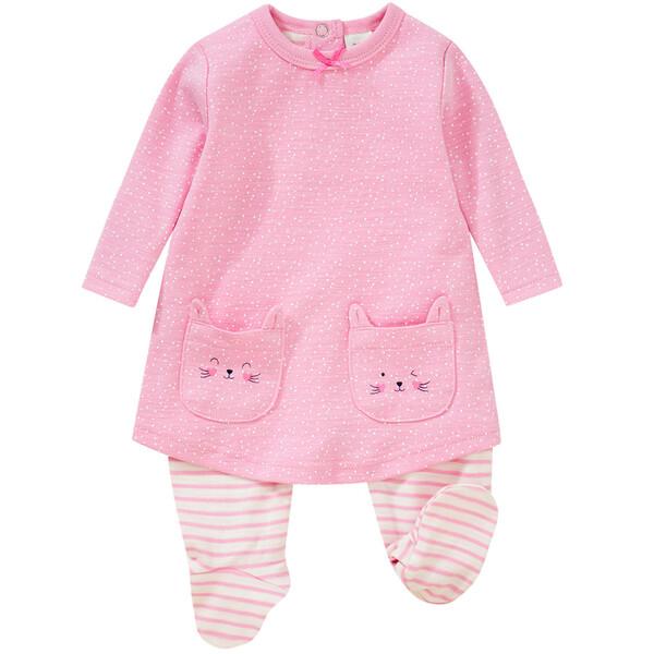 Newborn Stramplerkleid mit Katzentaschen