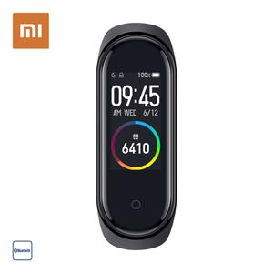 Mi Band 4 · Touch Farb-Display  · Herzfrequenz Sensor, Schrittzähler, Kalorienzähler, Schlafanalyse · Smartphone Benachrichtigungen · Wasserdicht bis 50 Meter