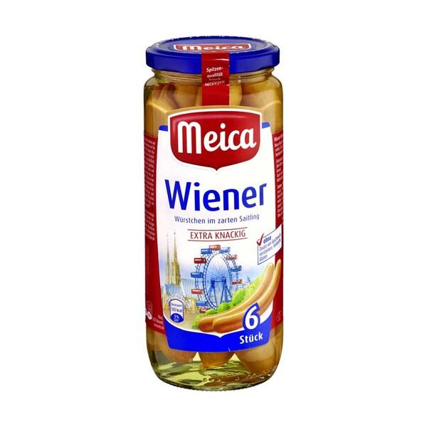 Meica Wiener, Frankfurter Art, Geflügel Würstchen oder Trueman's Hot Dog jedes 6 Stück = 250-g-Glas / 6+1 Stück = 350-g-Glass