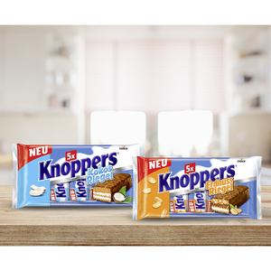 Knoppers Nuss,- Erdnuss oder Kokos Riegel 5er, jede 200-g-Packung