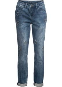 Boyfriend Jeans mit Stern-Stickerei