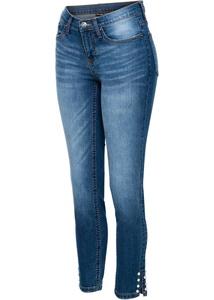 Jeans mit Perlen am Saum