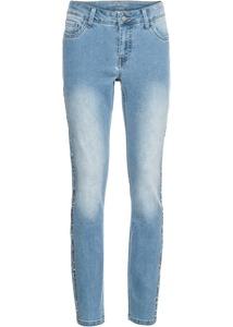 Jeans mit seitlichem Glitzerstreifen