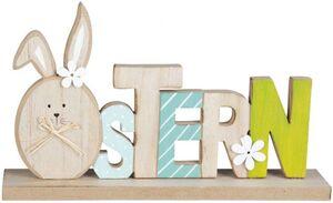 Deko-Schriftzug - Ostern - aus Holz - 22 x 5 x 13,5 cm