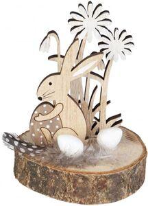 Standdeko - Hase - aus Holz - 7 x 7 x 9,5 cm