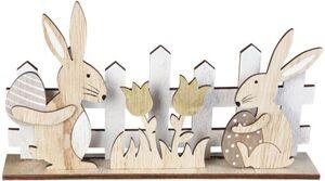 Standdeko - Hasen - aus Holz - 22,5 x 4,5 x 12,5 cm