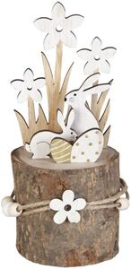 Standdeko - Hasen - aus Holz - 7 x 7 x 18 cm