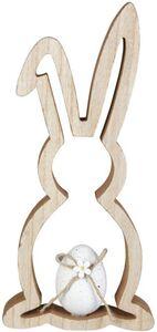 Dekohase - aus Holz - 12 x 2,5 x 26 cm